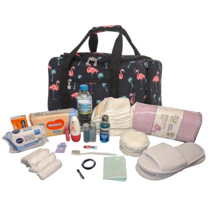 Pre Packed Maternity Hospital Bag Luxury Flamingo Birth Bag