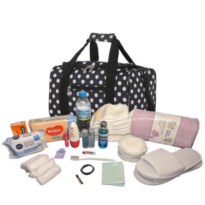 Pre Packed Maternity Hospital Bag Luxury Polka Dot Birth Bag